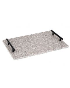 Medical Stone Tray - Handles Zwart Metaal