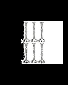 Kandelaar Zilverkleurig - Hoogte 20 cm