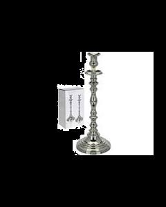 Kandelaar Zilverkleurig Hoogte 42 cm - Set van 2 stuks