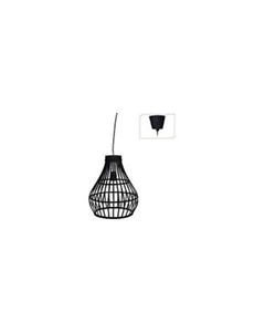 Lamp - Zwart Bamboe - 32 x 39 cm