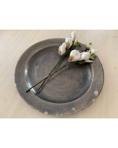 Schaal - Ruw Antiek Zilver - Dia 50 cm