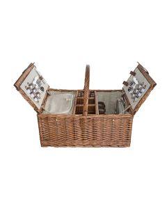 Picknickmand 4P - Bestek-Borden-Glazen-